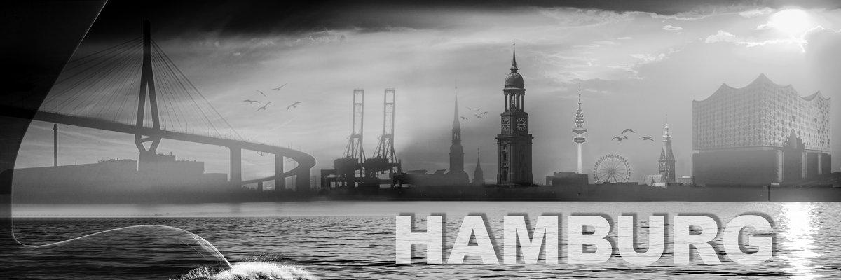 Hamburg collage 2.0 Graustufen