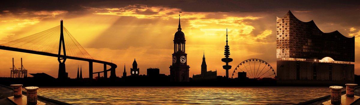 Hamburg collage 3.0 gelb/orange