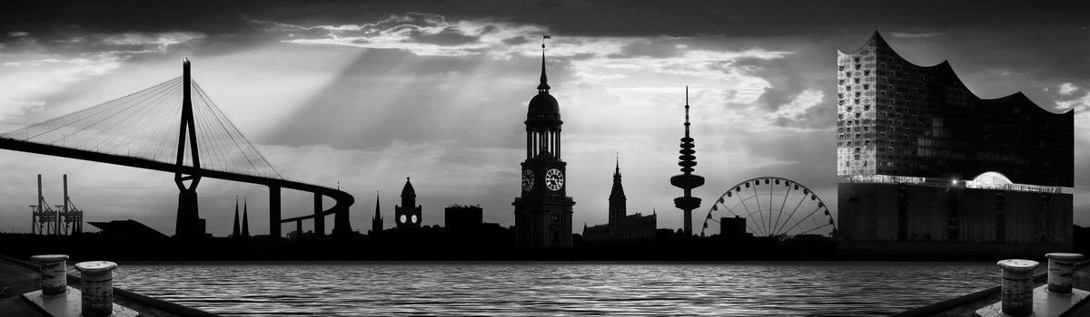 Hamburg collage 3.0 Graustufen